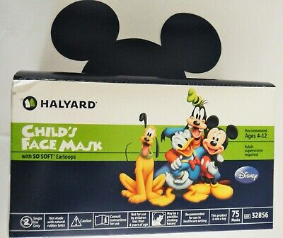 Halyard 32856 Disney Themed Child's Face Mask Ages 4-12 QTY 75