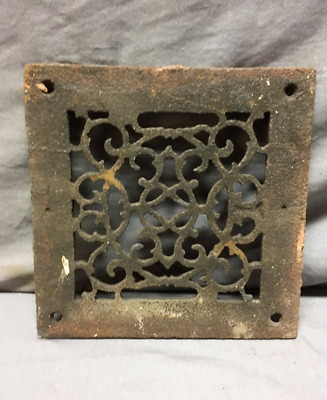 1 Antique Cast Iron Fireplace Grill Grates 6x6 Wall Ceiling Vent 441-19L