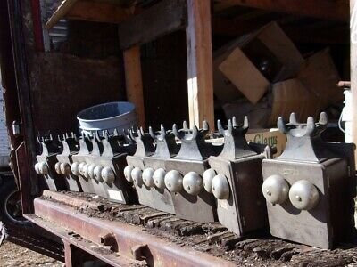 Ten Old Oak Crank Wall Phones with Generator and Bakelite Cradle