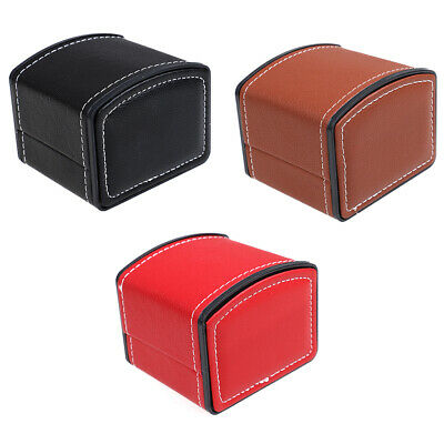 Faux Leather Square Jewelry Watch Display Gift Box with Pillow Cushio EXTYUK
