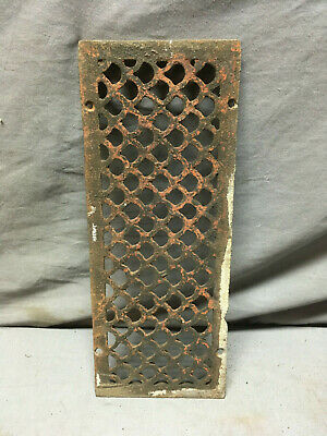 Antique Cast Iron Fireplace Grill Grates 12x4 Wall Ceiling Vent 444-19L