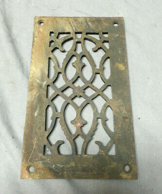 1 Antique Cast Iron Fireplace Grill Grates 9x5 Ceiling Vent Old Vtg 446-19L