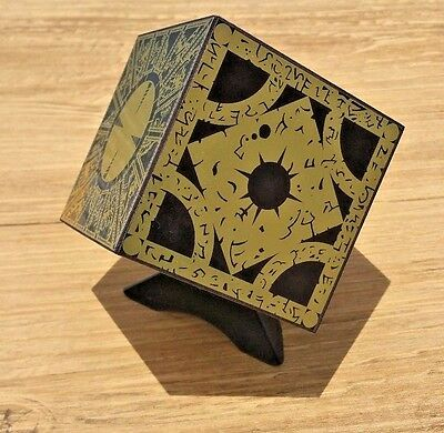 Hellraiser Puzzle Box Foil Face Cube Lament Configuration w/ Stand New Full Size