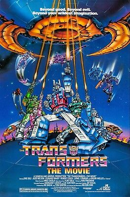 "transformers the movie (1986) Silk Fabric Poster 11""x17"" 24""x36"""