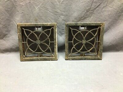 1 Antique Cast Iron Fireplace Grill Grates 11x4 Ceiling Vent Old Vtg 447-19L