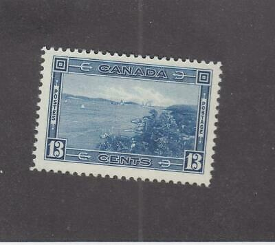 CANADA (MK1579) # 242 VF-MLH  13cts 1938 HALIFAX HARBOUR /DEEP BLUE CAT VAL $20