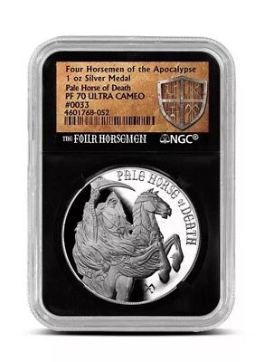 Proof Pale Horse of Death Silver Round.  NGC PF70. Lot #1
