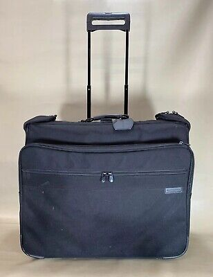 Briggs & Riley U76 Deluxe Baseline Rolling Wheeled Garment Bag Black Luggage