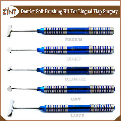 Implant Surgery Instruments Set Periodontal Dental Soft Tissue Brushing Kit 5pcs