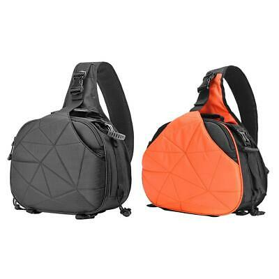 Waterproof Camera Shoulder Crossbody Bag Triangle Sling Bag w/Rain Cover #gib