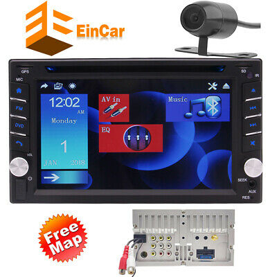 In Dash Radio 2DIN Touch Screen Bluetooth Car Stereo DVD Player Map GPS & Camera
