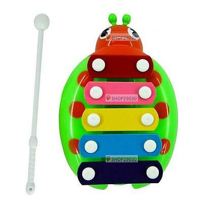 WTT Baby Child Kids 5-Note Xylophone Musical Toys Wisdom Development Beetle G WT