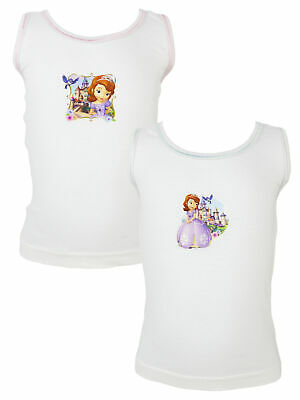 Pack of 2 Disney Sofia the First Girls Vests, Various Designs