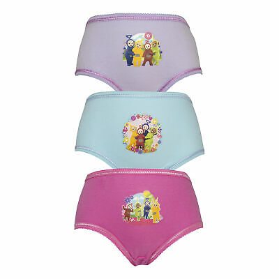 Teletubbies 3 Pack Girls Pants Briefs Knickers - Age 18 Months to 4 Years