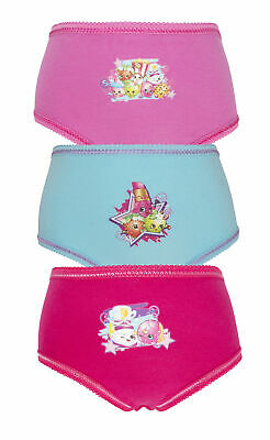 Shopkins 3 Pack Girls Pants / Knickers