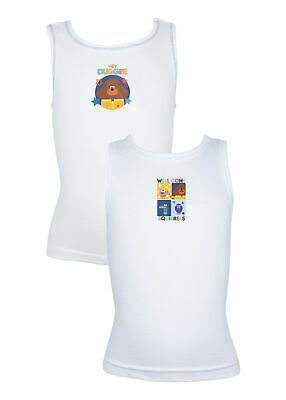 Pack of 2 Boys Hey Duggee Cotton Vests 18 months - 5 years Various Designs