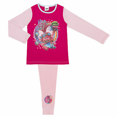 Girls Trolls Pyjamas - Age 4-10 Years Various Designs Official Dreamworks