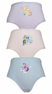 MLP 3 Pack Girls My Little Pony Pants / Knickers 2-6 years Various Designs