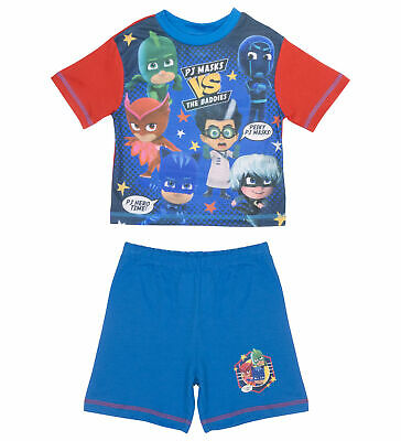 Boys PJ Masks Pyjamas Shortie Pyjama Set - 18months - 5Years Various Designs
