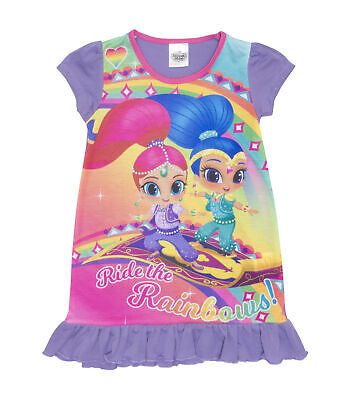 Girls Shimmer & Shine Nightie - Shimmer and Shine Nightdress Ages 2 to 6 Years
