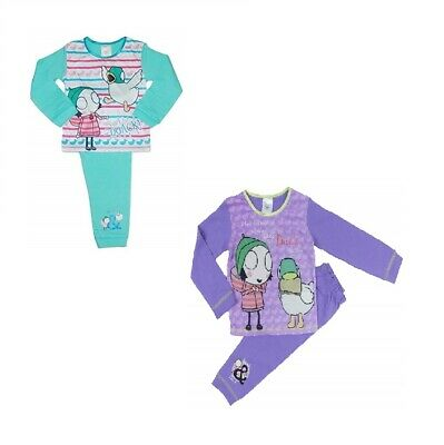 2 Pack Sarah and Duck Girls Pyjamas - 18 Months to 5 Years