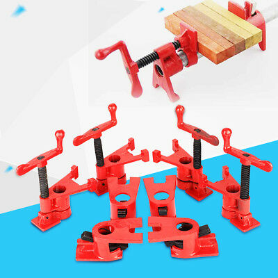 """8Pcs(4 set) 3/4"""" Clamping Blocks Pipe Clamps Woodworking Joint Hand Tool Set Red"""