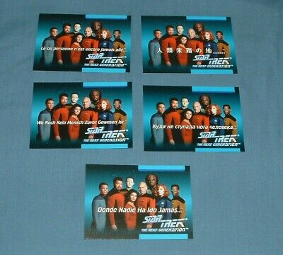 (5) Star Trek, Tng, Chase Trading Cards - Impel - 1992 - Exc. Cond.