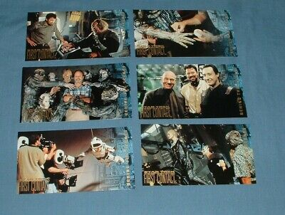 (6) Star Trek, 1St Contact, Chase Trading Cards - Skybox - 1996 - Exc. Cond.