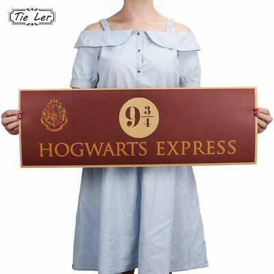 Hogwarts Express 9 3/4 Harry Potter Movie Paper Poster Wall Stickers 72x24cm New