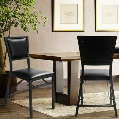 Set of 2 Metal Folding Chair Dining Chairs HW52161 WC