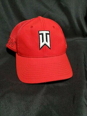 new product 3f510 bfc1d B55 Nike Tiger Woods TW Mesh Vapor RZN S M Hat Cap GOlf Red