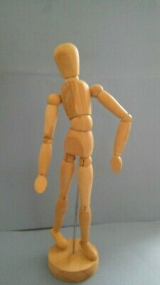 Artists Wooden Bendy Model Approx 13 Inches High (33Cm) With Plinth