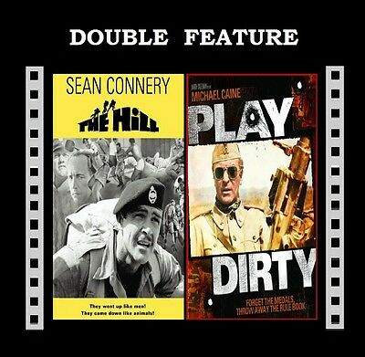The Hill / Play Dirty ( Sean Connery Michael Caine ) for Region 2 DVD New