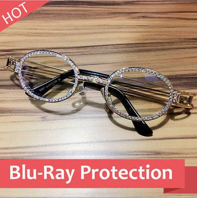 9a21ad36cf Hip Hop Quavo Migos DIAMOND Rappers Glasses Iced out Shinny 14K Gold  Multicolor