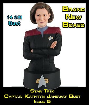 Eaglemoss Star Trek Collectors Busts: Kathryn Janeway Issue 5 (Mag + Bust) New