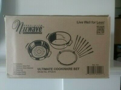 NuWave Ultimate Cookware Steamer and Fondue Set Brand New