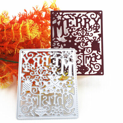Christmas Metal Cut Die Stencil Scrapbook Embossing Paper Card Dies Cutting Fash