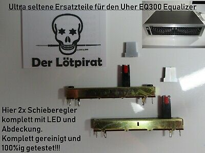 Uher EQ 300 Equalizer, 2x12 Kanal Spare Parts, 2x SRegler Einh., Top, Ultra Rar