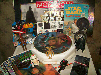 So Much Star Wars! Vhs Vinyl Audio Cassette Comics Micro Machines Plush Must See