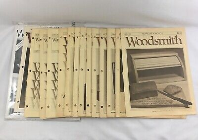 Vintage Woodsmith Magazines & Modern Handcraft Woodworking Patterns Lot of 30