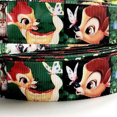 Cute Bambi 1 Metre 22mm Crossgrain Ribbon/ Craft / Hair Ties /Dummy Clips