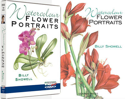 Watercolour Flower Portraits Book & Double DVD Set with Billy Showell