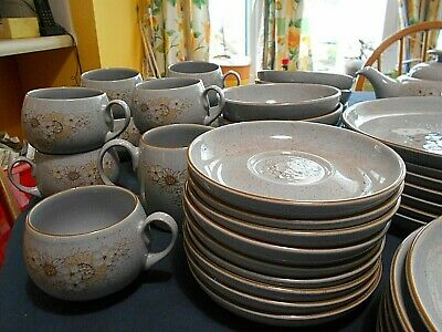 Denby Reflections-plates, bowls, tea pot, cups and saucers