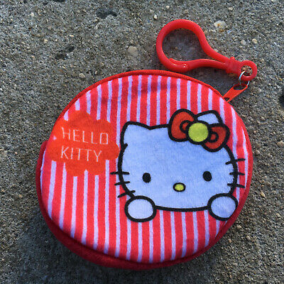 "HELLO KITTY ""Raspberry Red"" Awesome Girls Small Coin Purse Money Pouch Accessory"