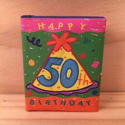 HAPPY 50th BIRTHDAY Beautiful Miniature Book Filled with Wit & Wisdom (1999)