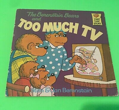The Berenstain Bears Book Too Much Tv Stan and Jan Berenstain
