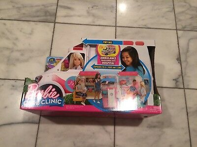Barbie Care Clinic Playset Ambulance Hospital Vehicle Fun Accessories Toy NEW