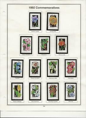 1992 American Wildflowers on album pages 50 diff Scott Value $40 Only $17.50!