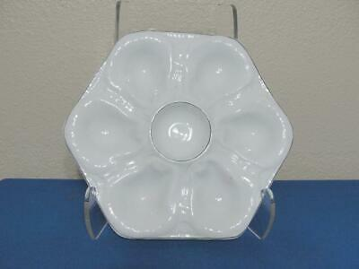 John Maddock & Sons White Ironstone Oyster Plate for Parmelee-Dohrmann Company