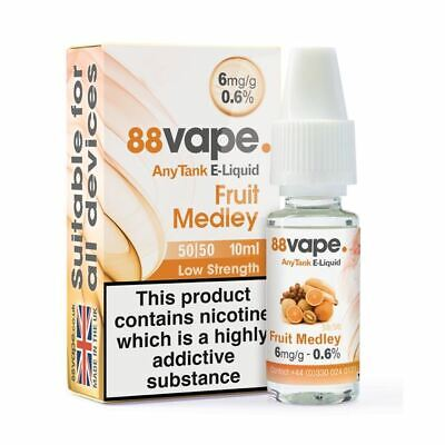 88VAPE VALUE Pack of 20 E-Liquids FRUIT MEDLEY 6mg BULK BUY MADE IN THE UK
